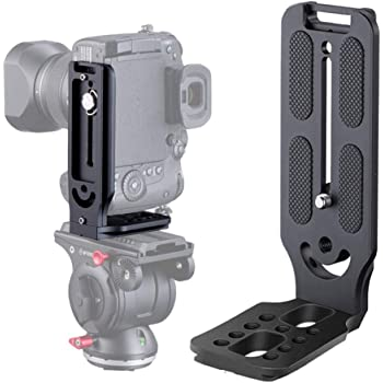 "Vertical Quick Release L Plate Bracket  1//4/""-20 /& 3//8/"" Screw for DSLR Camera"