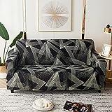 ASCV Europäischer Stil Druck Stretch Sofabezug Wohnzimmer Ecke Sofa Sofa Handtuch Möbelbezug Stretch Blumenbezug Kopfbedeckung A7 3 Sitzer