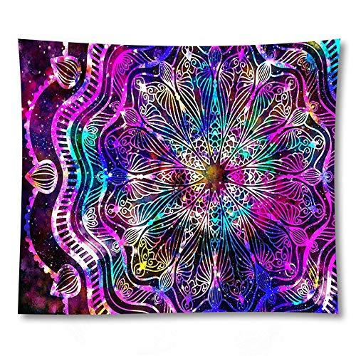 PPOU Tapiz de Pared de Mandala 3D decoración de Sala de Estar decoración del hogar Tapiz de Tela de Fondo Manta de sofá A5 73x95cm