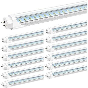 4 Foot T8 Bulbs 20W LED Tube Light Lamp Double-End Power CLEAR MILKY LENS EK