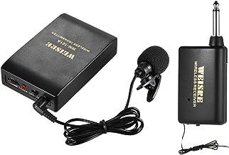 KKmoon Lapela Portátil Lapela Collar Clip-on Sistema de Microfone Sem Fio FM Amplificador de Voz 1 / 4in Saída Plug com Tr...