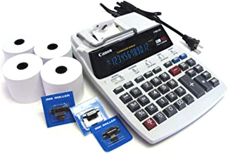 $98 » Desktop Office Printing Calculator Model P180 Special Package with 4 Rolls Paper & 3 Ink Rolls