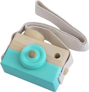 66be8a3a66 Pudincoco Linda cámara de Juguete de Madera para niños, niñas, niños,  Cuello Creativo