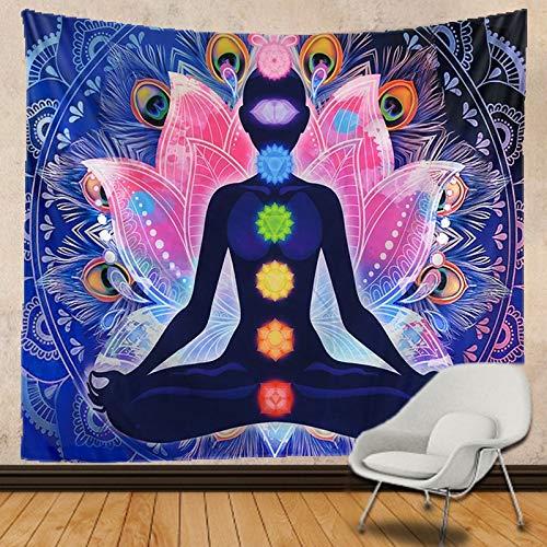 KHKJ Tapiz de Buda, Tapiz de Mandala, Tapiz de Yoga, Dormitorio, decoración del hogar, paño de Pared, Tapiz Lavable A2 200x150cm