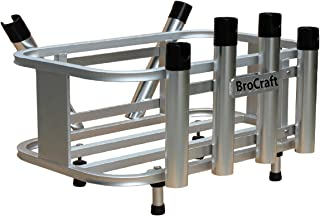 Brocraft Jet Ski Aluminum Fishing Rod Rack & Cooler Holder Combo with with Gas Plates/PWC Rod Holder