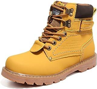 Llhjd Zapatos Las Botas de Invierno para Hombre y Mujer Son Botas de algodón con Estilo Informal y Estilo británico con Botas de Invierno de Color sólido Botas