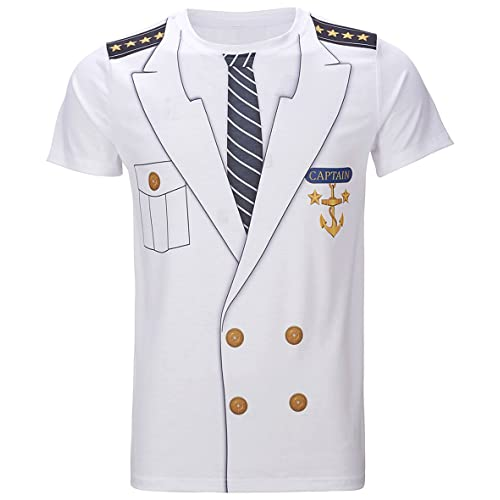 c5354549 Funny World Men's Captain Costume T-Shirts