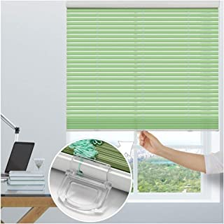 CHENHZ Aluminium Venetian Blinds for Clamping, Privacy, Light and Glare Protection, Mounting Kit Included,Customizable Size (Color : Green, Size : 90x180cm)