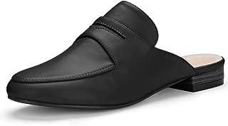 Allegra K Women's Rounded Toe Backless Slip On Loafer Mules