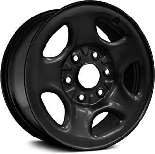 Replacement 5 Spokes Black Factory Steel Wheel Fits Chevy Astro