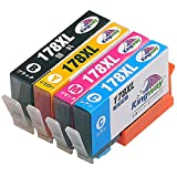 HP ヒューレットパッカード HP178 HP178xl 互換 インクカートリッジ 4色パック 全色増量タイプ(Kingway)