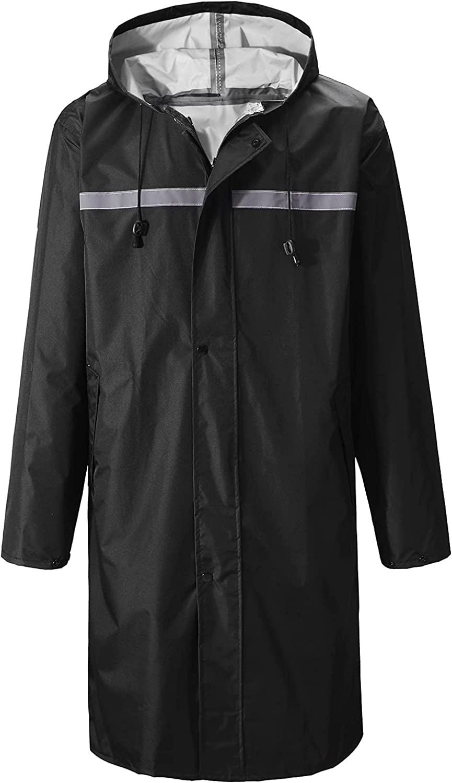 Hooded Safety Long rain poncho Jacket Waterproof Emergency Raincoat for Men