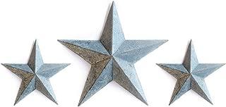 GALVANIZED TIN BARN STAR SET - zinc grey 2X 8