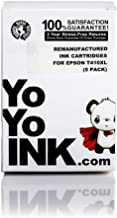 YoYoInk Remanufactured Printer Ink Cartridges Replacement for Epson T410XL 410 XL (1 Black, 1 Photo Black, 1 Cyan, 1 Magenta, 1 Yellow, 5-Pack)