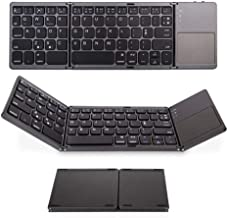 GUOJIAYI Foldable Keyboard Bluetooth Foldable Wireless Keyboard with Touch Pad, Suitable for Laptop Tablet Computer Phone Keyboard