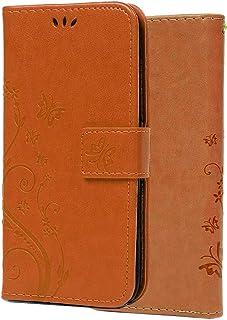 Capa C-Super Mall-UK para iPhone 11 Pro Max, material de silicone amigável à pele, borboleta em relevo e suporte floral co...