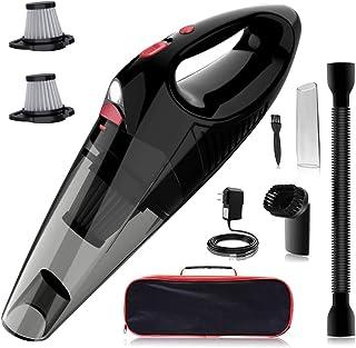 Kimitech ハンディクリーナー 乾湿両用クリーナー コードレス ハンド 掃除機 LEDライト付き 車用 家庭black