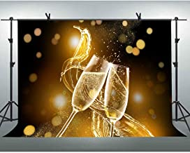 FLASIY 10x7ft Champagne Background Halo Bokeh Photography Backdrops Wedding Theme Party Video Studio Photo Shooting Props LYAY369