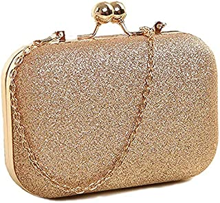 cee468c58b Tooba Handicraft Party Wear Beautiful Bling Box Clutch Bag Purse For  Bridal, Casual, Party