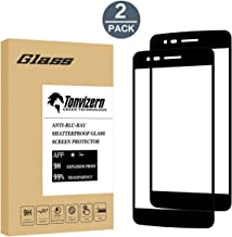 LG Aristo 2 Plus Tempered Glass Screen Protector,[2-Pack] Tonvizern 0.26mm 9H Hardness Full Coverage Glass Screen Protector for LG Aristo 2 Plus [Black]