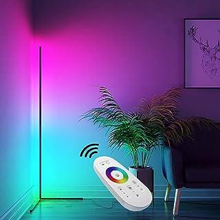 Original BESTY HOME Corner Floor Lamp RGB Adjustable Brightness with Remote Control, Color Changing LED Minimalist Nordic ...
