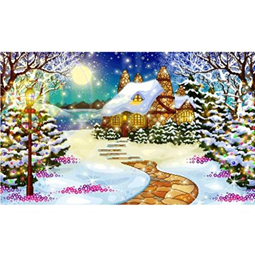 Elevin(TM) 2018Christmas 5D DIY Rhinestone Diamond Embroid Painting Counted Paint by Number Kits Cross Stitch (G)