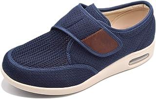 Men's Lightweight Adjustable Closure Athletic Walking Shoes Memory Foam Fashion Sneakers