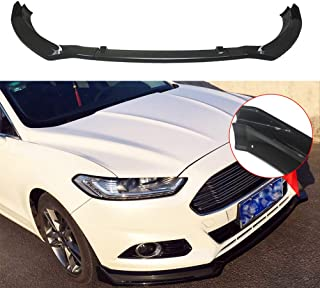 NINTE Front Lip for 2013-2016 Ford Fusion Painted Gloss Black Front Bumper Spoiler - 3pcs