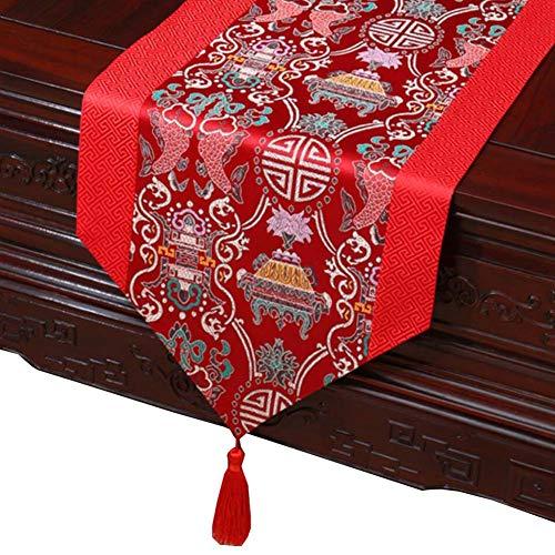 13 x 78,7 Pollici Stile Cinese Elegante Tavolo Runner con Nappe Decorazioni da tavola, 13