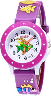Kidzo Something Fishy Purple Kids Analog Wrist Watch with 3D Strap