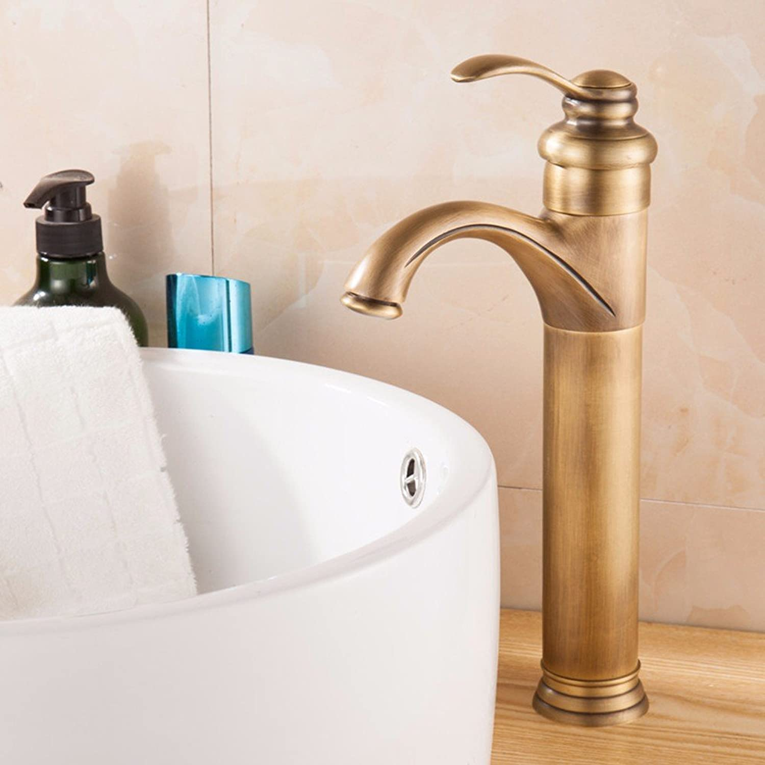 Hlluya Professional Sink Mixer Tap Kitchen Faucet Copper, cold and hot, Single Hole, bath, basin, plus high, sink and faucet