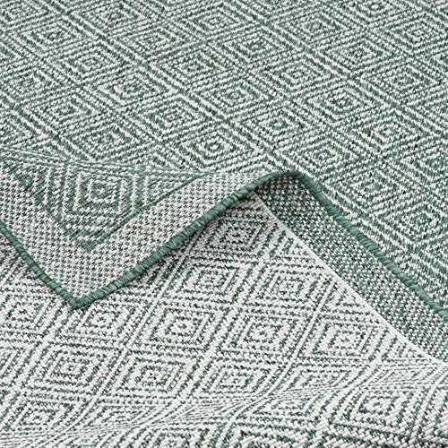 CAMPUS In & Outdoor Teppich Beidseitig Flachgewebe Hampton Grün Meliert