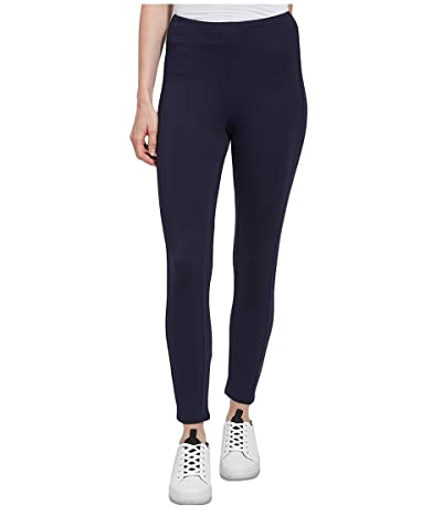 Lysse Elm Crop Lightweight Ponte Leggings in Eco-Vero (True Navy) Women