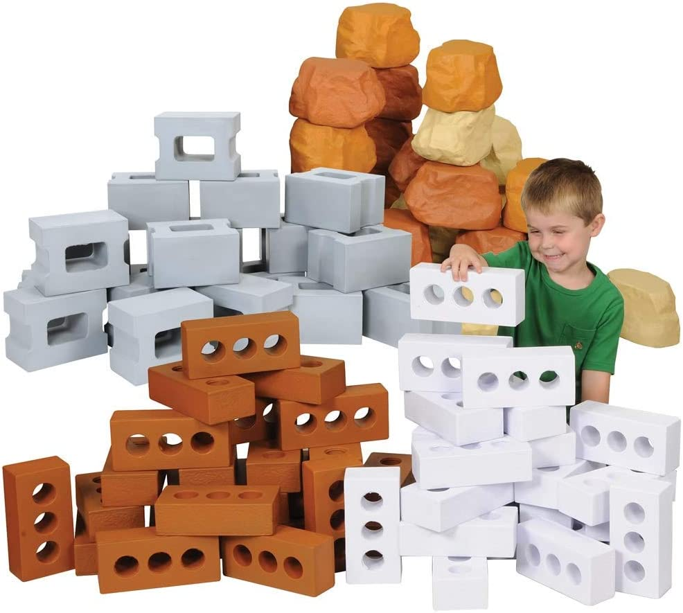 None Kaplan Max 81% OFF Very popular Early Learning Brick Builders and Rock Blocks