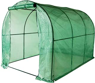 Sundale Outdoor Gardening Large Hot Green House with PE Cover and Zipper Door, Waterproof Walk in Plant Green House, UV Protection, Insect Prevention, 114.8