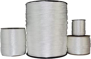 Polyester Pull Tape (5/8 inch) - SGT KNOTS - Professional Grade Pre-Lubricated Polyester Mule Webbing - Lightweight Flat Rope - Crafting, Commercial Electrical, Tie Downs, More (500 ft - White)