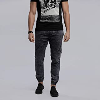 lee cooper Comfort Fit Fashion Joggers for Men, Navy - 3014303 AH1WBF WOVEN