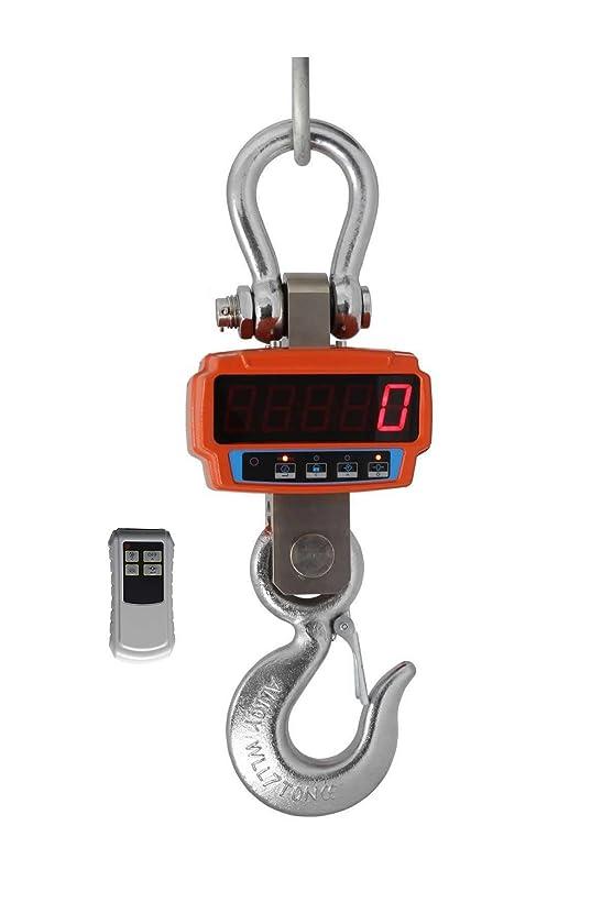 クリケット拮抗同様の充電式デジタル吊りはかり 秤量5000kg 最小単位2kg [並行輸入品]
