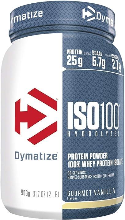 Proteine dymatize iso 100 buongustaia vaniglia 900g, per prima e dopo l`allenamento - 900 g 25181501