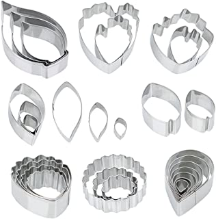 Ogori 26 Pcs Stainless Steel Flower Cookie Cutters Set,Fantastic Cake Decorating Kit, Fondant Cutter Cake DIY Tools,Best Modelling Tools For Holiday Party Wedding And Birthday