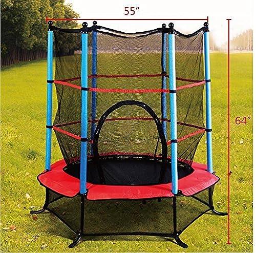 calidad fantástica Exercise 55 Round Kids Youth Jumping Trampoline W    Safety Pad Enclosure Combo by westernb2k  el estilo clásico