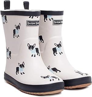Boibie Bear أطفال أحذية المطر أحذية المطر مطاطية لطيفة مطبوعة أحذية المطر للأولاد والبنات