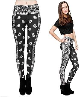 Qiyuxow Women Yoga Leggings Digital Print Skinny Pants - Strechy Workout Leggings