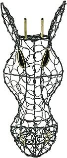 Zeckos Silver Finish Looped Metal Giraffe Head Wall Hanging 11 1/2 Inches High