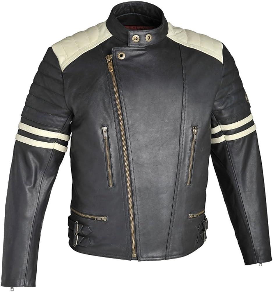 SleekHides Men's Fight Real Motorcycle Club Leather Jacket