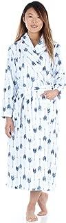 Women's Plush Fleece Long Bathrobe