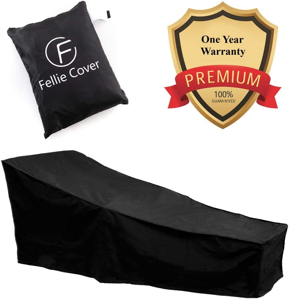 New York Mall 82-inch Waterproof Patio Chaise Lounge Easy-to-use Durable Outdoor Cover Lou