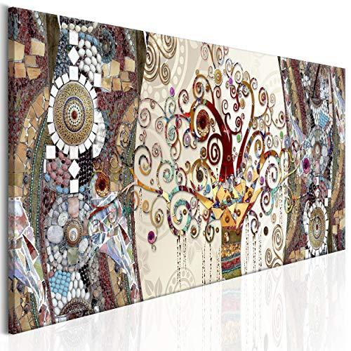 decomonkey Bilder Gustav Klimt Abstrakt 150x50 cm XXL 1 Teilig Leinwandbilder Bild auf Leinwand Vlies Wandbild Kunstdruck Wanddeko Wand Wohnzimmer Wanddekoration Deko Baum