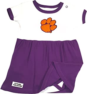 Future Tailgater Clemson Tigers Baby Onesie Dress - Purple