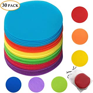 "Classroom Magic Mark Its Sitting Carpet Spots to Educate, Pack of 30 - 5"" Rug Circles Marker Dots for Preschool, Kindergarten, and Elementary Teachers"